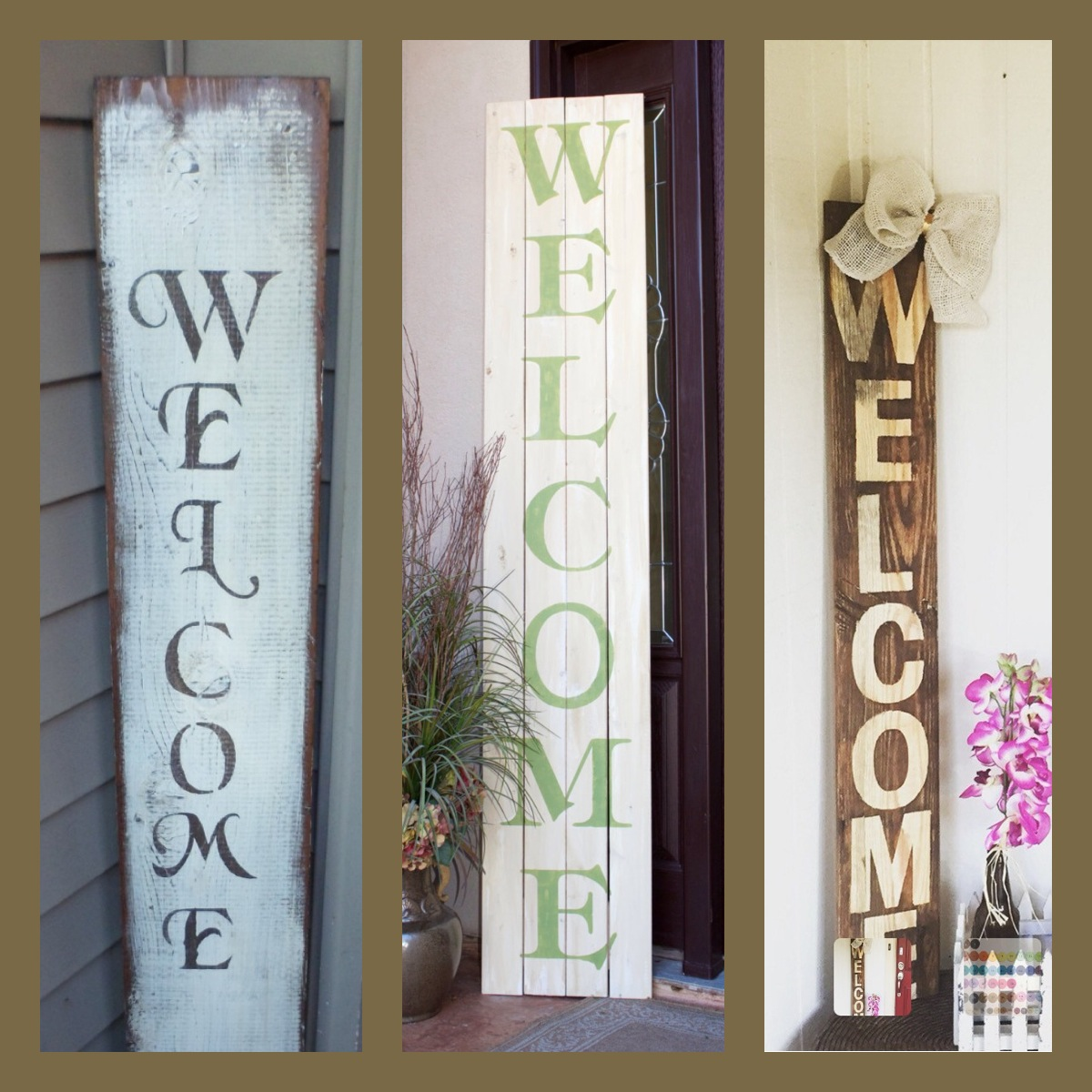 Rustic Wooden Welcome Sign Adult The Red Wagon